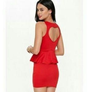 Kirra Peplum Heart Dress